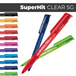 SUPER HIT Clear Soft grip - Stylo Publicitaire
